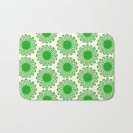 vintage flowers green Bath Mat