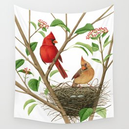 Northern Cardinals Wall Tapestry