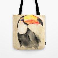 toucan Tote Bags featuring Toucan by akaori_art