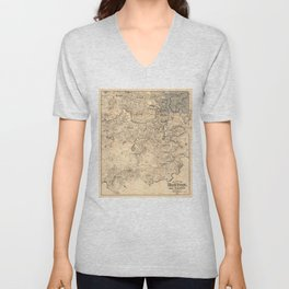 Map of the City of Boston and Vicinity (1907) Unisex V-Neck