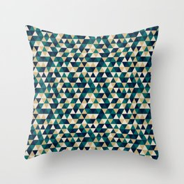 Colorful Triangles Pattern 3 Throw Pillow