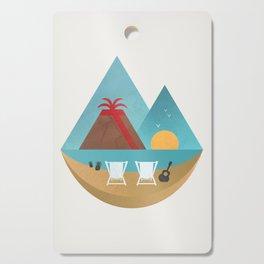 Volcano Sunset Cutting Board