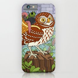 Little Owl with Packed Basket iPhone Case
