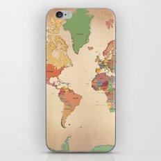 Mercator Map Modern iPhone Skin