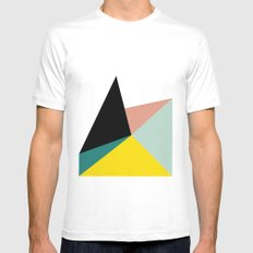 Falling MEDIUM White Mens Fitted Tee