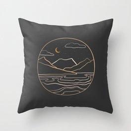 sneak peak at night Throw Pillow