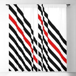 80s stripes Blackout Curtain