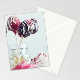 cake pops Stationery Cards