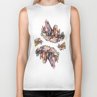 crystal Biker Tanks featuring Crystal by Kat Nova