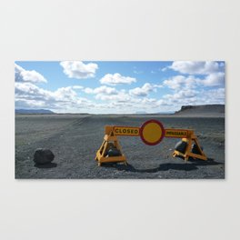 Iceland - Should I Stay Or Should I Go? Canvas Print