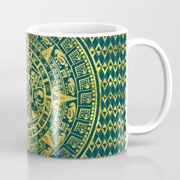Gold  Aztec Inca Mayan Calendar Coffee Mug