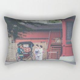 Serene Tokyo Mornings Rectangular Pillow