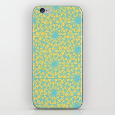 geometric vintage blue/orange iPhone & iPod Skin