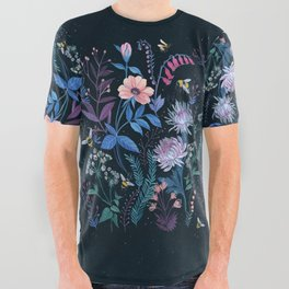 Bees Garden All Over Graphic Tee