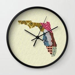 Florida State Map Wall Clock