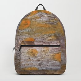 Yellow brown spots watercolor Backpack