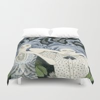 swim Duvet Covers featuring Swim by Yuliya