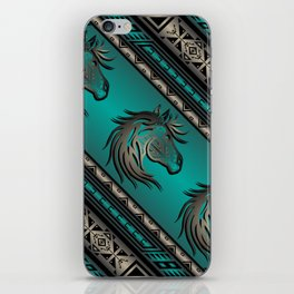 Horse Nation (Aqua) iPhone Skin