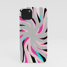 Geometric vane decor. abstract. colorful.1  iPhone Case