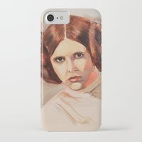 princess leia iPhone & iPod Cases featuring Princess Leia by Ashley Anderson