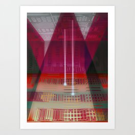 Atlante / CIRCUITS GLEAM Art Print