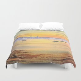 Impressions Of Provincetown Cape Cod USA Duvet Cover