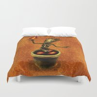 groot Duvet Covers featuring Groot by Anna Shell