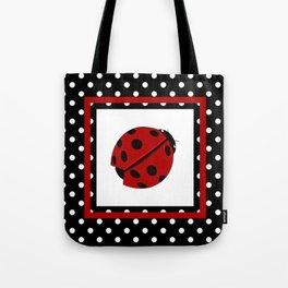Ladybug And Polkadots Tote Bag