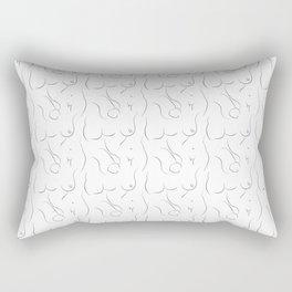 Private Parts Rectangular Pillow