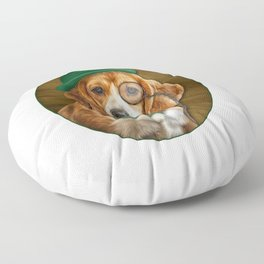 Drawing Dog Beagle 2 Floor Pillow