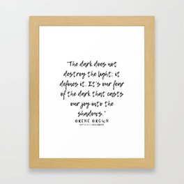 15   |  Brené Brown Quotes | 191213 | Framed Art Print