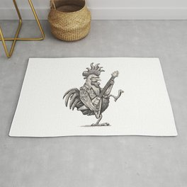 Guitar The Rooster Rug