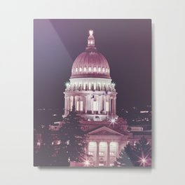 Idaho Capital Building at Night Metal Print