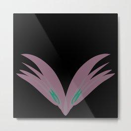 pink over black Metal Print