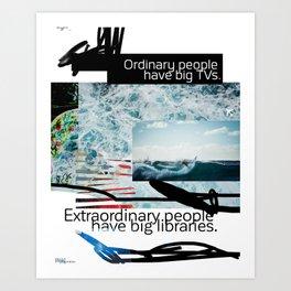 Ordinary - Extraordinary people scribble Art Print