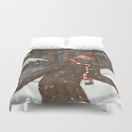 Everyone Gets Cold Duvet Cover