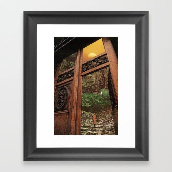 back to nature Framed Art Print