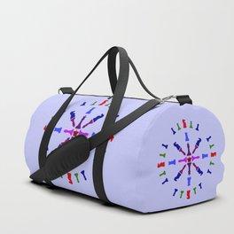Chess Piece Design Duffle Bag