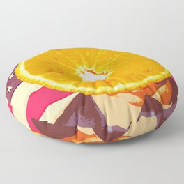 Orange for President Floor Pillow