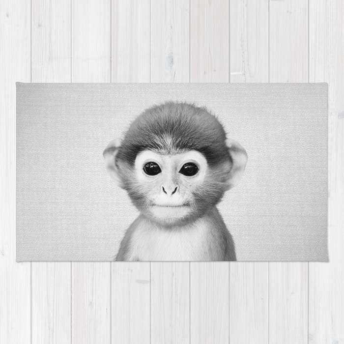 Baby Monkey - Black & White Rug