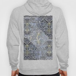 Silver ^ Pewter Butterfly Collage Hoody