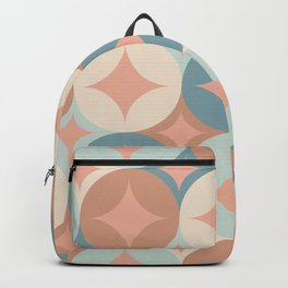Winter, Christmas Pattern, Teal and Pink, Retro Art Backpack