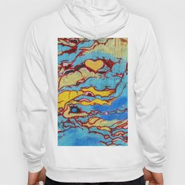 Asian style clouds with heart Hoody
