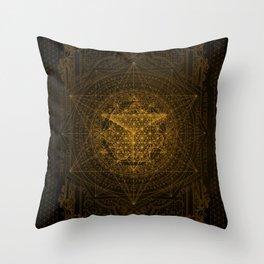 Dark Matter - Gold - By Aeonic Art Throw Pillow