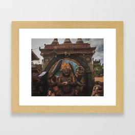 Temples and Architecture of Kathmandu City, Nepal 001 Framed Art Print