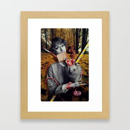 The Fall | Collage Framed Art Print