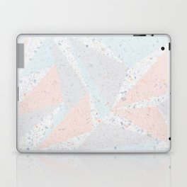 Soft terrazzo pastel with abstract geometric triangles Laptop & iPad Skin