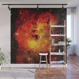 Galaxy On Fire Wall Mural
