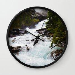 Geraldine Waterfall located in Jasper National Park, Canada Wall Clock