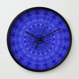 Cosmos Mandala II Cobalt Blue Wall Clock